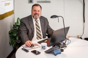 Al Harlow at Click IT headquarters