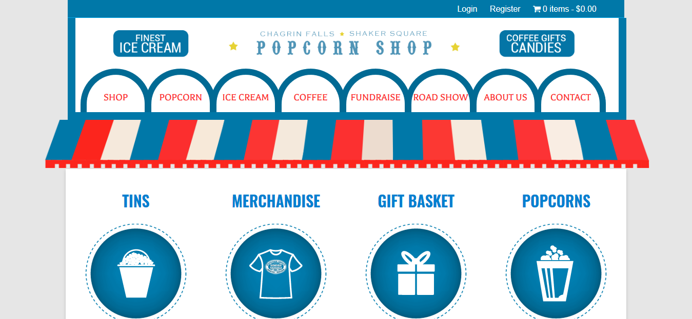 Chagrinfalls Popcorn Shop